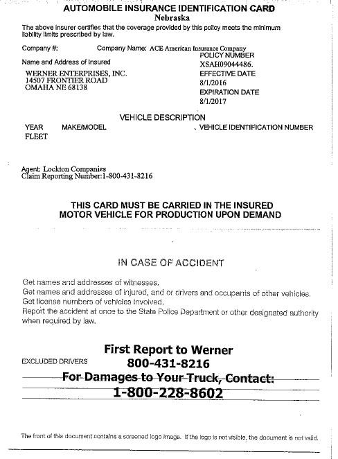 Owner Op Insurance Card 08.16-08.17